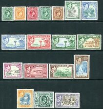 JAMAICA-1938-52 Set to £1 Fine Mint. Several Values Unmounted Sg 121-133a  LMM