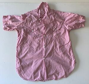 post overalls O' All's usa RED GRID SHIRT L WORN