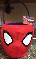 "Spiderman Marvel Avengers Jumbo Plush Bucket Halloween Collectible 10.5"" New"