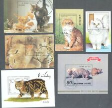 Cats on stamps miniature sheet collection 10 different