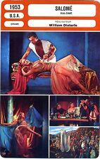 Fiche Cinéma. Movie Card. Salomé (USA) 1953 William Dieterle