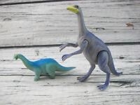1988 Playskool Definitely Dinosaur Lot Struthiomimus Apatosaurus Toy Figures