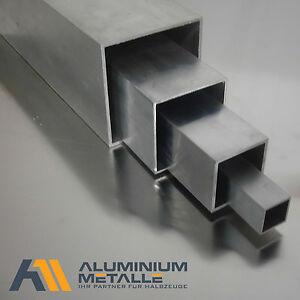 Aluminium Vierkantrohr Alu AlMgSi05 Profil Kantrohr AW-6060 Hohlstab Quadratrohr