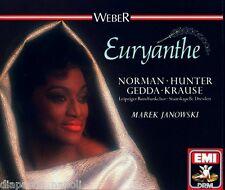 Weber: Euryanthe / Janowski, Norman, Vogel, Gedda, Dresden Staatskapell - CD Emi