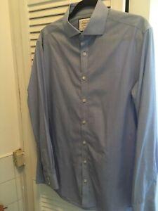Charles Tyrwhitt Extra Slim Stretch Sky Blue Shirt 16/34