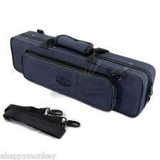 Classic C Flute Case/Navy Blue/Shoulder Strap