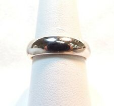 w/ Light Comfort Fit Size 8.5 14k White Gold 6mm Wedding Band