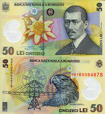 ROMANIA 50 Lei Banknote World Money Currency Bill Europe Polymer Note p120 2009