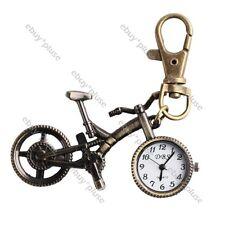 Hot! Vintage Bicycle Bike Pocket Key Pendant Quartz Watch