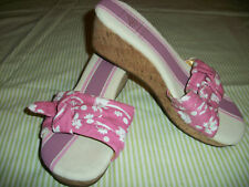 NWT $80 Sperry Top Sider Wedge Pink Floral Sandals 8