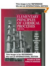 Elementary Principles of Chemical Processes by RonaldI-nt Edition PaperBack-3 Ed