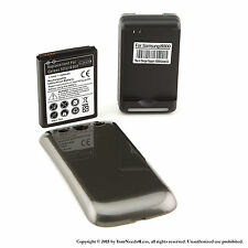 4300mAh Extended Battery for Samsung Galaxy S3 Gray Cover Dock Charger