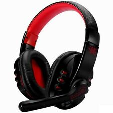 Cuffie Bluetooth gaming con microfono wireless V8 - Nero e rosso