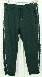 Lyle & Scott Jogging Pants XL Green Cuffed Tartan Outdoor Active Casual