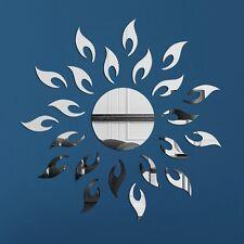 DIY Silber Moderne Mirror Wall Sticker Aufkleber Wandbilder Whonung Dekor 2017