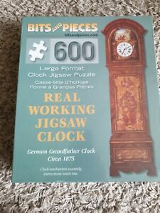 CLOCK JIGSAW PUZZLE, A REAL WORKING GERMAN GRANDFATHER CLOCK, 600 pce  Xmas