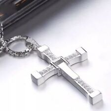 USA Seller Cross Pendant Jewelry  Silver Plated Jesus Pendant Necklace Men/women
