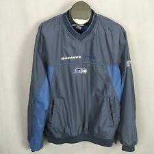 Chaqueta Suéter de viento de Seattle Seahawks Rompevientos Grandes para  Hombre Azul v-Cuello Reebok c6759ff8628