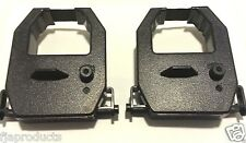 2- Pack Amano PIX-75 PIX75 Electronic Time Clock Ribbon Black Ink FREE SHIPPING