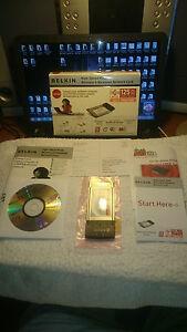 Belkin Wireless G Notebook Laptop Network Internet Card CardBus PC 125
