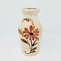 Scheurich Keramik Vase 523-18 Floral Design Vintage West German Art Pottery