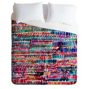 Deny Designs Amy Sia Rain 2 Multicolor Microfiber Full/Queen Duvet Cover 90 x 90