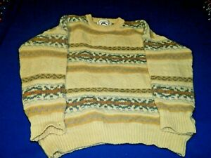 West Highland Woollens Scotland Pure Wool Fisherman Sweater sz L 48