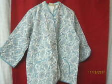 1950's Tele-Queen Nu-Mode Lingerie turquoise & white Paisley quilted Bed Jacket