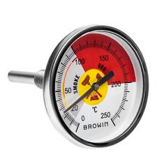 Grill Thermometer Bimetall Smoker Edelstahl BBQ Räucherofen Gasgrill 250°C
