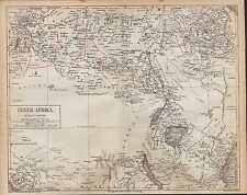 Landkarte map 1874: Inner-Afrika. Kongo Africa Kamerun Angola Abessinien