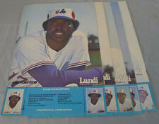 Original 1970's Lot of 5 Montreal Expos Lundi Magazine Baseball Posters