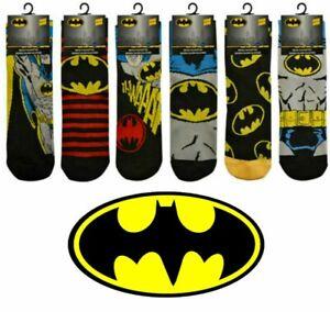 3 Pairs Men Official DC BATMAN Socks Novelty Cartoon Comic Tv Theme Adults 6-11