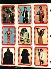 1977 TOPPS STAR WARS SERIES 4 GREEN ALL 11 STICKERS EX. TO SOME NEAR MINT