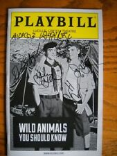Signed Playbill Wild Animals You Should Know Alice Ripley  Jay Armstrong Johnson
