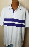 Sahara NatureTech Mens Polo Shirt Color White Purple Size XL