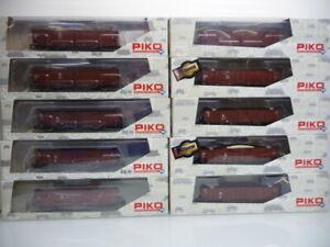 Piko H0 54150 bis 54159 - 10-teiliges !! Güterwagen Set der DR  Top in OVP