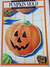 Sassafras Superstone Halloween Pumpkin Cookie Mold Made In USA