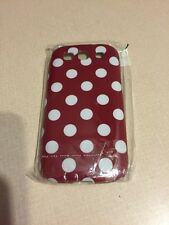 Samsung Galaxy S3 19300 Plastic Case Red With White Polka Dots New
