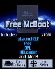 Free MCBoot 1.966 FMCB - Playstation 2 - 64MB Memory Card (ESR, HDL, OPL, MORE)