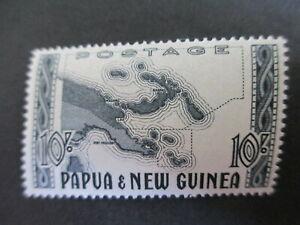 PAPUA & NEW GUINEA - 1952 10/= BLUE=BLACK SUPERB MNH