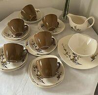 MIDWINTER Spring Willow Tea/coffee Set Fashion Shape - Quality Vintage Retro MCM