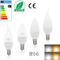 E14 6W Non Dimmable LED Candle Light Bulb Cool Warm White SES Low Energy Saving