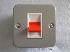 Metal Clad Double Socket 13Amp avec dos Boîte industrielle garage atelier