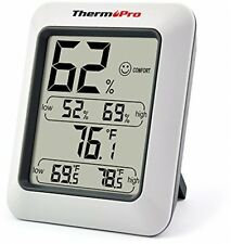 Hygrometer Indoor Humidity Monitor Weather Station With Gauge Meter home gadget