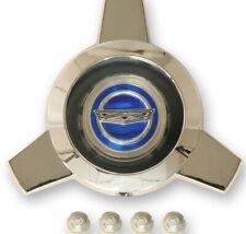 NEW! 1965 - 1966 Ford Mustang Wire Wheel Hub Cap Center Spinner Blue Center Each