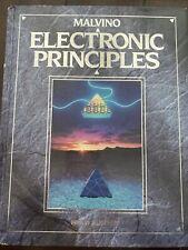 ELECTRONIC PRINCIPLES 5th Edition Malvino Hardcover Good Condition! 0028008456