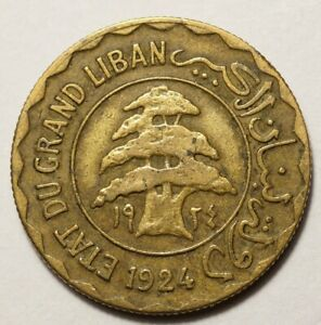 LIBAN : 2 PIASTRES 1924 n°1