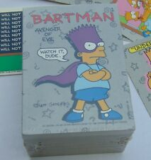 1990 Topps THE SIMPSONS - Complete  88-Card PLUS 22-Sticker Shrink Wrapped Set