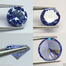 IF 11 cts Huge Round (12 mm)  Lab Tanzanite Blue  Diamond AAA N114