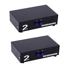 2x 2 Way Splitter Switching AV RCA Switch Box Audio Video Switcher Selector
